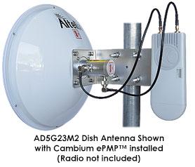 Altelix AD5G23M2 MIMO Dish Antenna