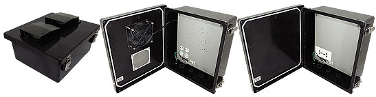 Altelix NEMA Rated NF141206 Series Black Weatherproof Enclosures